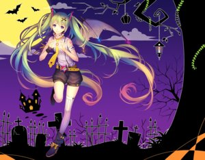 Rating: Safe Score: 42 Tags: animal_ears halloween hatsune_miku heels tattoo thighhighs tid vocaloid wings User: mash