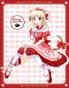 Rating: Safe Score: 17 Tags: animal_ears funyo honobonoan maid nekomimi User: fireattack
