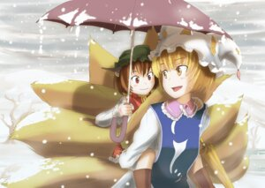 Rating: Safe Score: 7 Tags: animal_ears buncha_to_imon chen tail touhou yakumo_ran User: gnarf1975