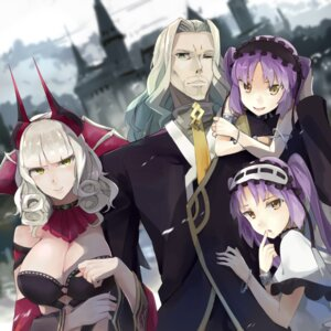 Rating: Safe Score: 14 Tags: carmilla_(fate/grand_order) cleavage crossover dress euryale fate/apocrypha fate/grand_order fate/hollow_ataraxia fate/stay_night horns hsin lancer_of_black_(fate/apocrypha) stheno User: charunetra