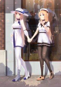 Rating: Safe Score: 29 Tags: dress heels ian_wang lexington_(zhanjianshaonv) pantyhose saratoga_(zhanjianshaonv) see_through seifuku yuri zhanjianshaonv User: Arsy