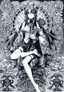 Rating: Safe Score: 15 Tags: kochiya_sanae monochrome nobita touhou User: Radioactive