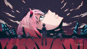 Rating: Safe Score: 17 Tags: darling_in_the_franxx hiro_(darling_in_the_franxx) horns neon_genesis_evangelion parody riooo zero_two_(darling_in_the_franxx) User: Spidey