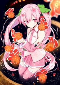 Rating: Safe Score: 38 Tags: hatsune_miku headphones sakura_miku sama tattoo thighhighs vocaloid User: BattlequeenYume
