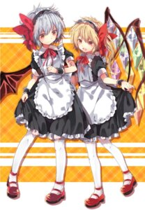 Rating: Safe Score: 36 Tags: flandre_scarlet maid miya_(tsumazukanai) pantyhose remilia_scarlet touhou wings User: Radioactive