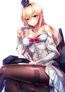 Rating: Safe Score: 93 Tags: cleavage dress erect_nipples kantai_collection pantyhose silly warspite_(kancolle) User: Mr_GT