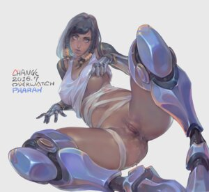Rating: Explicit Score: 56 Tags: anus areola bandages bottomless change_(437483723) erect_nipples mecha_musume no_bra overwatch pharah pussy pussy_juice shirt_lift signed tattoo uncensored User: Mr_GT