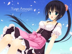 Rating: Safe Score: 78 Tags: amagiri_yune amairo_islenauts cleavage muririn wallpaper yuzu-soft User: milumon