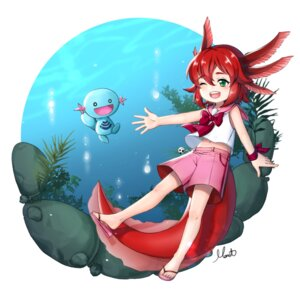 Rating: Safe Score: 14 Tags: anthropomorphization monet930 monster_girl pokemon tail wooper User: Mr_GT