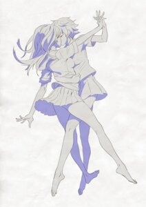 Rating: Safe Score: 23 Tags: ladic monochrome seifuku symmetrical_docking yuri User: Radioactive