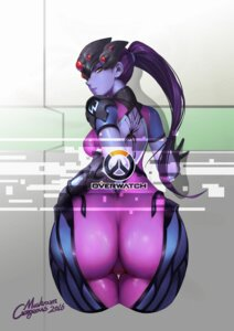 Rating: Safe Score: 63 Tags: ass autographed bodysuit gorgeous_mushroom no_bra overwatch tattoo widowmaker User: charunetra