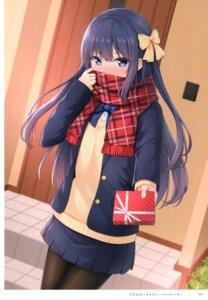 Rating: Safe Score: 27 Tags: karutamo pantyhose rakugaki-chan seifuku sweater valentine User: kiyoe