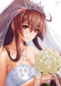 Rating: Safe Score: 19 Tags: cleavage dress kantai_collection sakiyamama wedding_dress yamato_(kancolle) User: BattlequeenYume
