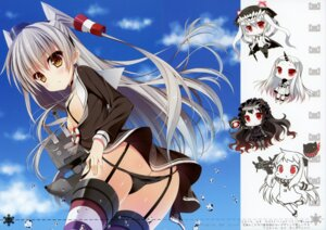 Rating: Questionable Score: 88 Tags: amatsukaze_(kancolle) ass bodysuit chibi chocolate_cube dress erect_nipples horns isolated_island_oni kantai_collection loli miwa_futaba no_bra northern_ocean_hime open_shirt pantsu panty_pull pantyhose rensouhou-kun seaport_hime stockings string_panties thighhighs wo-class_aircraft_carrier User: WtfCakes