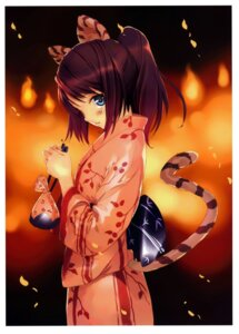 Rating: Safe Score: 50 Tags: animal_ears tail ueda_ryou yukata User: Radioactive