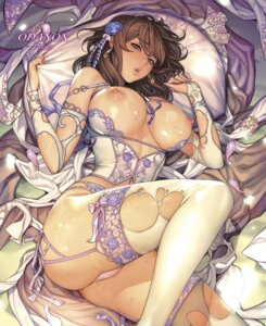 Rating: Questionable Score: 133 Tags: ass bra breasts corset jpeg_artifacts lingerie nipples oda_non pantsu stockings thighhighs thong torn_clothes User: kiyoe