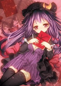 Rating: Safe Score: 33 Tags: catbell cleavage patchouli_knowledge thighhighs touhou User: 椎名深夏