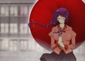 Rating: Safe Score: 11 Tags: bakemonogatari hanekawa_tsubasa jowy_anderson megane seifuku umbrella User: Spidey