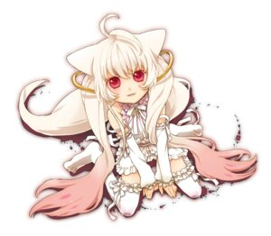 Rating: Safe Score: 22 Tags: anthropomorphization kyubey nekoyanagi_moyo puella_magi_madoka_magica thighhighs User: Radioactive