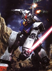 Rating: Safe Score: 11 Tags: gundam mecha mobile_suit_gundam morishita_naochika ms-06_zaku_ii rx-78-2_gundam User: Radioactive