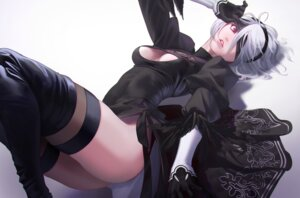 Rating: Questionable Score: 39 Tags: ass cleavage dress moruga nier_automata thighhighs yorha_no.2_type_b User: mash