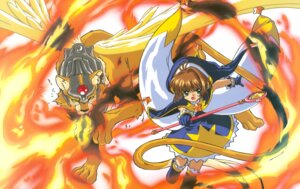 Rating: Safe Score: 3 Tags: card_captor_sakura kerberos kinomoto_sakura madhouse weapon wings User: Omgix