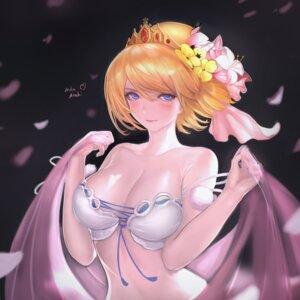 Rating: Questionable Score: 15 Tags: bra cleavage europa_(granblue_fantasy) granblue_fantasy youximiaomiao User: Dreista