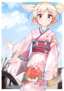 Rating: Safe Score: 12 Tags: animal_ears fennec_(kemono_friends) kemono_friends kimono kinou_no_shika kitsune tail User: dick_dickinson