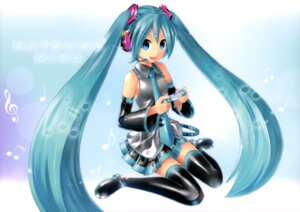Rating: Questionable Score: 22 Tags: hatsune_miku kei thighhighs vocaloid User: drop