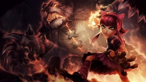 Rating: Safe Score: 11 Tags: animal_ears annie_hastur league_of_legends monster tagme tibbers User: Radioactive