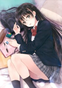 Rating: Questionable Score: 50 Tags: fujita_hidetoshi megane pantsu seifuku tagme User: Twinsenzw