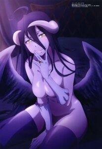 Rating: Questionable Score: 92 Tags: albedo_(overlord) breast_hold horns morishita_yuuki naked overlord thighhighs wings User: drop
