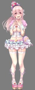 Rating: Questionable Score: 35 Tags: breast_hold cleavage headphones lolita_fashion mag_kan neko no_bra sonico stockings super_sonico thighhighs transparent_png underboob v-mag User: Nico-NicoO.M.
