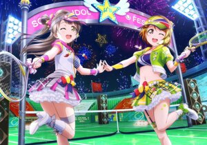 Rating: Questionable Score: 6 Tags: garter headphones heels koizumi_hanayo lolita_fashion love_live! minami_kotori wallpaper User: fly24