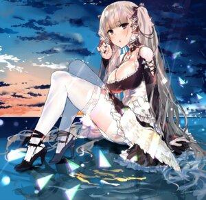 Rating: Questionable Score: 33 Tags: azur_lane formidable_(azur_lane) gothic_lolita heels lolita_fashion no_bra skirt_lift temir thighhighs User: BattlequeenYume