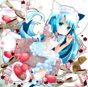 Rating: Safe Score: 22 Tags: animal_ears maid nekomimi tanaka_nyan User: fireattack