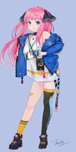 Rating: Safe Score: 26 Tags: 5-toubun_no_hanayome bandaid cleavage jiujiuyatou_(yayanzz) nakano_nino thighhighs User: Dreista
