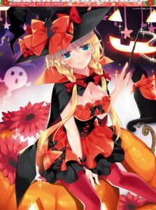 Rating: Questionable Score: 20 Tags: cleavage dress halloween motomiya_mitsuki pantyhose pointy_ears tagme weapon witch User: Twinsenzw