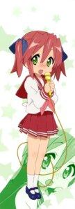 Rating: Safe Score: 12 Tags: kobayakawa_yutaka lucky_star seifuku stick_poster User: Share