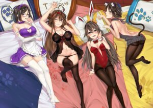 Rating: Questionable Score: 59 Tags: animal_ears ass b3b bunny_ears bunny_girl cleavage feet haruna_(kancolle) hiei_(kancolle) kantai_collection kirishima_(kancolle) kongou_(kancolle) lingerie maid nekomimi no_bra pantsu panty_pull pantyhose see_through stockings sweater tail thighhighs User: BattlequeenYume