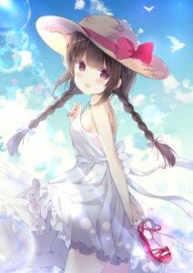 Rating: Questionable Score: 54 Tags: dress saeki_sola skirt_lift summer_dress User: hiroimo2