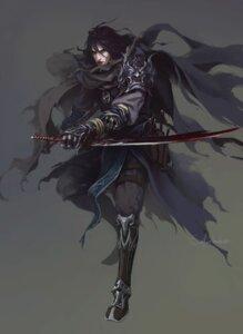 Rating: Safe Score: 10 Tags: armor male sai_foubalana signed sword User: mattiasc02