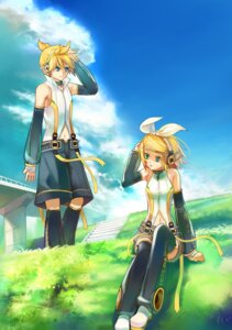 Rating: Safe Score: 11 Tags: headphones len_append rin_append see_through shinkei_(kamisakai) thighhighs vocaloid vocaloid_append User: Mr_GT