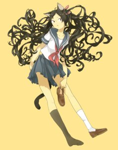 Rating: Safe Score: 9 Tags: animal_ears miyama_fugin nekomimi seifuku tail User: Radioactive