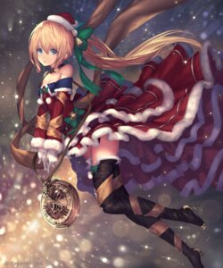 Rating: Safe Score: 47 Tags: christmas cleavage dress heels tachikawa_mushimaro thighhighs User: Mr_GT