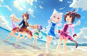 Rating: Safe Score: 75 Tags: animal_ears azuki chocola cinnamon_(nekopara) coconut game_cg maple_(nekopara) neko_works nekomimi nekopara sayori seifuku skirt_lift tail vanilla wet User: Radioactive