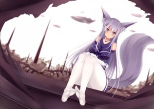 Rating: Questionable Score: 40 Tags: animal_ears feet jpeg_artifacts kitsune pantsu pantyhose shimapan tail User: MurakumoJP