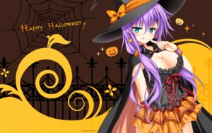 Rating: Questionable Score: 76 Tags: cleavage halloween hanasaki_work_spring kuon_ayano saga_planets toranosuke wallpaper witch User: Anonymous