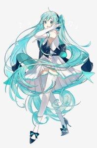 Rating: Safe Score: 30 Tags: dress hatsune_miku heels no_background omutatsu thighhighs vocaloid User: BattlequeenYume