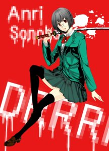 Rating: Safe Score: 2 Tags: durarara!! megane seifuku sonohara_anri sword tarako thighhighs User: charunetra